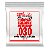 .030 Classic Pure Nickel Wound Electric Guitar Strings 6 Pack Thumb