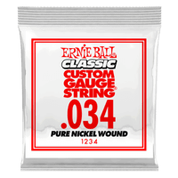 .034 Classic Pure Nickel Wound Electric Guitar Strings 6 Pack Thumb
