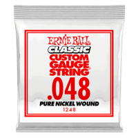 .048 Classic Pure Nickel Wound Electric Guitar Strings 6 Pack Thumb