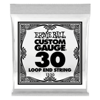 .030 Loop End Stainless Steel Wound Banjo- oder Mandolinensaite 6er Pack Thumb