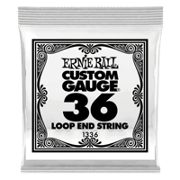 .036 Loop End Stainless Steel Wound Banjo or Mandolin Guitar Strings 6 Pack Thumb