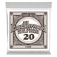 .020 Earthwood 80/20 Bronze Acoustic Guitar Strings 6 Pack Thumb