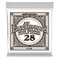 .028 Earthwood 80/20 Bronze Acoustic Guitar Strings 6 Pack Thumb