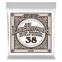 .038 Earthwood 80/20 Bronze Acoustic Guitar Strings 6 Pack Thumb