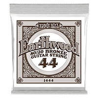 .044 Earthwood 80/20 Bronze Acoustic Guitar Strings 6 Pack Thumb