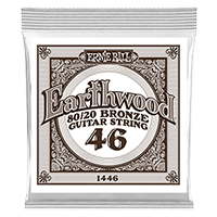 .046 Earthwood 80/20 Bronze Acoustic Guitar Strings 6 Pack Thumb