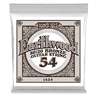 .054 Earthwood 80/20 Bronze Acoustic Guitar Strings 6 Pack Thumb