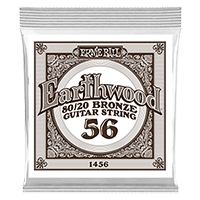 .056 Earthwood 80/20 Bronze Acoustic Guitar Strings 6 Pack Thumb