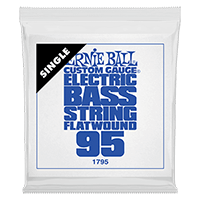 .095 Flatwound Electric Bass String Single Thumb
