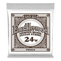 .024 Earthwood Phosphor Bronze Acoustic Guitar Strings 6 Pack Thumb