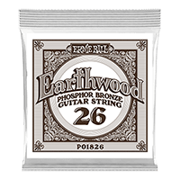 .026 Earthwood Phosphor Bronze Akustik-Gitarrensaite 6er Pack Thumb