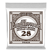.028 Earthwood Phosphor Bronze Akustik-Gitarrensaite 6er Pack Thumb