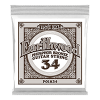 .034 Earthwood Phosphor Bronze Akustik-Gitarrensaite 6er Pack Thumb