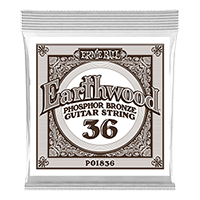 .036 Earthwood Phosphor Bronze Akustik-Gitarrensaite 6er Pack Thumb