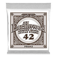 .042 Earthwood Phosphor Bronze Acoustic Guitar Strings 6 Pack Thumb