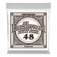 .048 Earthwood Phosphor Bronze Akustik-Gitarrensaite 6er Pack Thumb