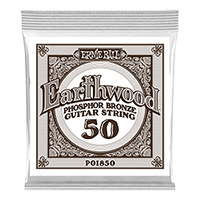 .050 Earthwood Phosphor Bronze Akustik-Gitarrensaite 6er Pack Thumb
