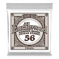 .056 Earthwood Phosphor Bronze Acoustic Guitar Strings 6 Pack Thumb