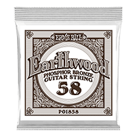 .058 Earthwood Phosphor Bronze Acoustic Guitar Strings 6 Pack Thumb
