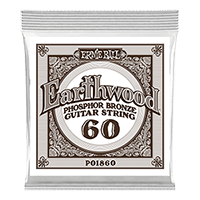 .060 Earthwood Phosphor Bronze Acoustic Guitar Strings 6 Pack Thumb