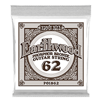 .062 Earthwood Phosphor Bronze Acoustic Guitar Strings 6 Pack Thumb