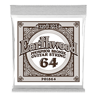 .064 Earthwood Phosphor Bronze Acoustic Guitar Strings 6 Pack Thumb