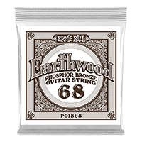 .068 Earthwood Phosphor Bronze Acoustic Guitar Strings 6 Pack Thumb