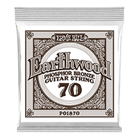 .070 Earthwood Phosphor Bronze Acoustic Guitar Strings 6 Pack Thumb