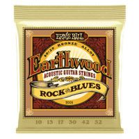 Earthwood Rock and Blues w/Plain G 80/20 Bronze Acoustic Guitar Strings - 10-52 Gauge Thumb