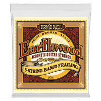 Earthwood 5-String Banjo Frailing Loop End 80/20 Bronze Acoustic Guitar Strings Thumb