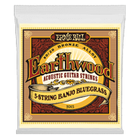 Cordas para Violão Earthwood 5-String Banjo Bluegrass Loop End 80/20 Bronze Acoustic Thumb