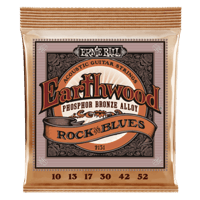 Earthwood Rock and Blues w/Plain G Phosphor Bronze Acoustic Guitar Strings - 10-52 Gauge Thumb