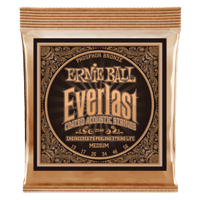 Everlast Medium Coated Phosphor Bronze Acoustic Guitar Strings Thumb