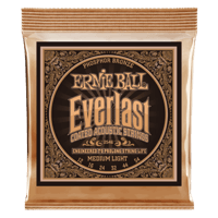Everlast Medium Light Coated Phosphor Bronze Acoustic Guitar Strings Thumb