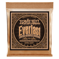 Everlast Extra Light Coated Phosphor Bronze Acoustic Guitar Strings Thumb