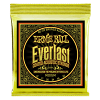 Everlast Medium Coated 80/20 Bronze Acoustic Guitar Strings Thumb