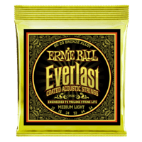 Everlast Medium Light Coated 80/20 Bronze Acoustic Guitar Strings Thumb