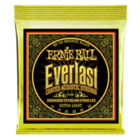 Everlast Extra Light Coated 80/20 Bronze Cordes pour Guitare Folk Thumb