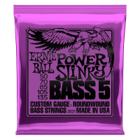 Power Slinky 5-String Nickel Wound Electric Bass Strings Thumb
