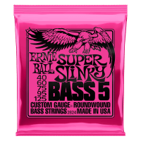 Super Slinky 5-String Nickel Wound Electric Bass Strings - 40-125 Gauge Thumb