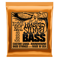 Hybrid Slinky Nickel Wound Electric Bass Strings - 45-105 Gauge Thumb