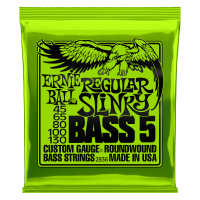 Regular Slinky 5-String Nickel Wound Electric Bass Strings - 45-130 Gauge Thumb