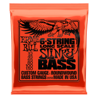 Slinky Long Scale 6-String Nickel Wound Electric Bass Strings Thumb