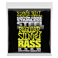 Regular Slinky Stainless Steel Electric Bass Strings - 50-105 Gauge Thumb