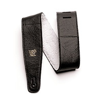 "2.5"" Adjustable Italian Leather with Fur Padding - Black Thumb"