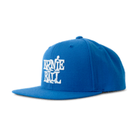 Blue with White Stacked Ernie Ball Logo Hat Thumb