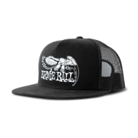 Black with White Ernie Ball Eagle Logo Hat Thumb