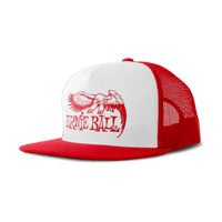 Red with White Front and Red Ernie Ball Eagle Logo Hat Thumb