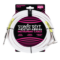 20' Straight / Angle Instrument Cable White Thumb