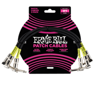 Cable negro 1' Angle / Angle Patch Paquete de 3  Thumb